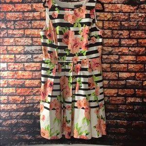 Jessica Howard Striped Floral Dress